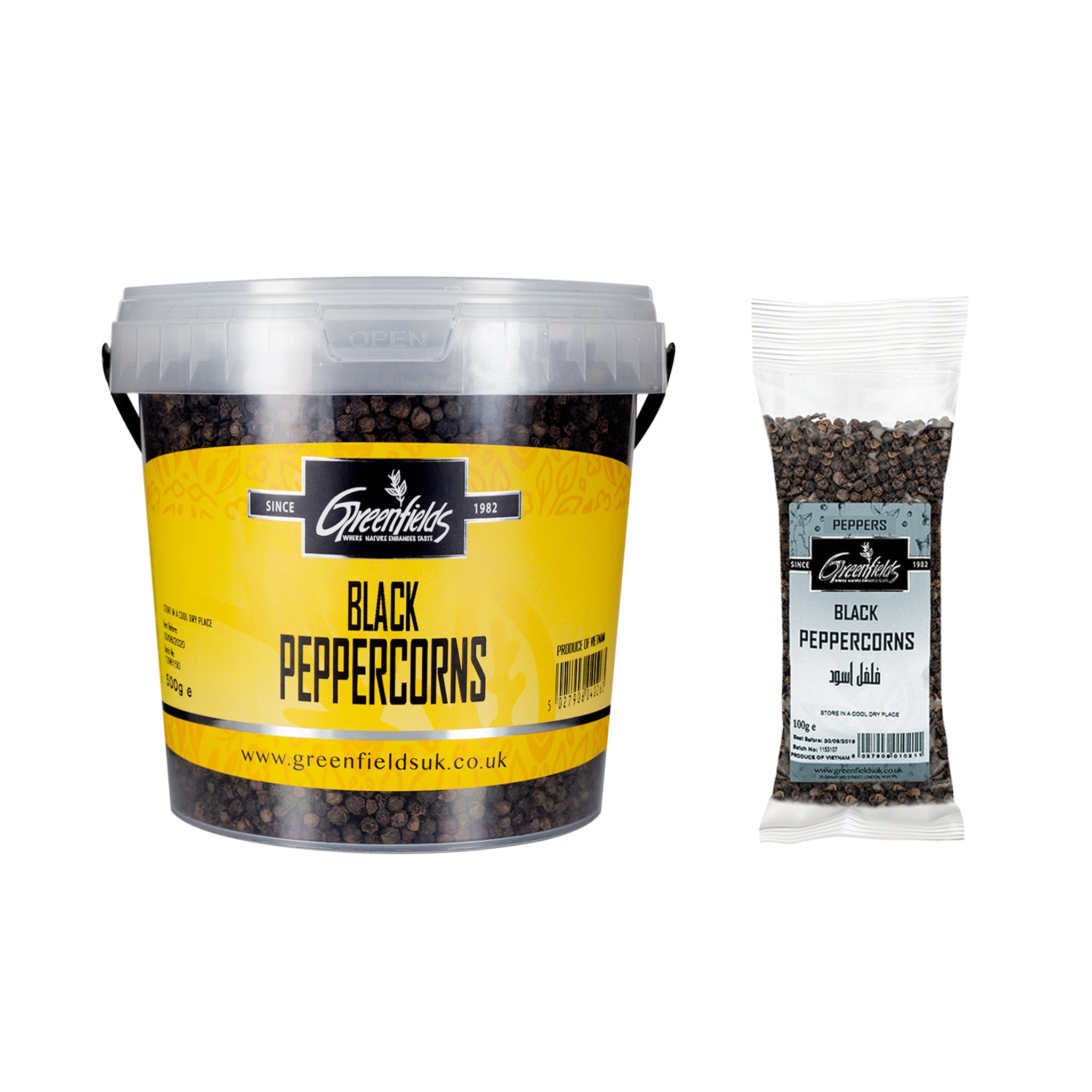 Greenfields Black Peppercorns