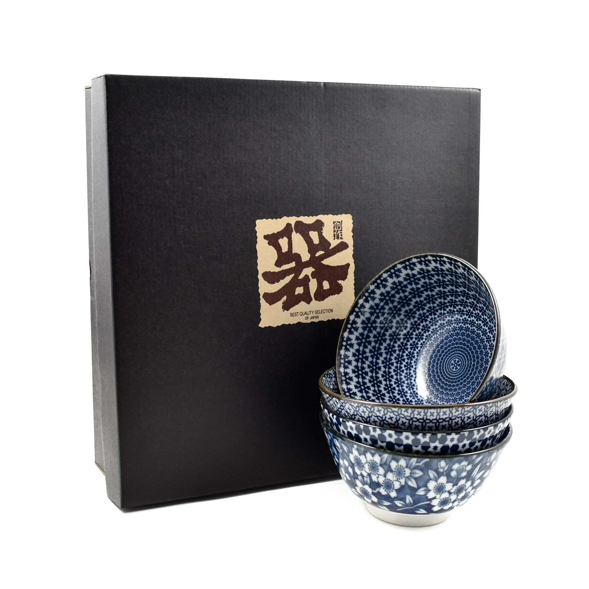 Blue & White Rice Bowl Boxed Gift Set
