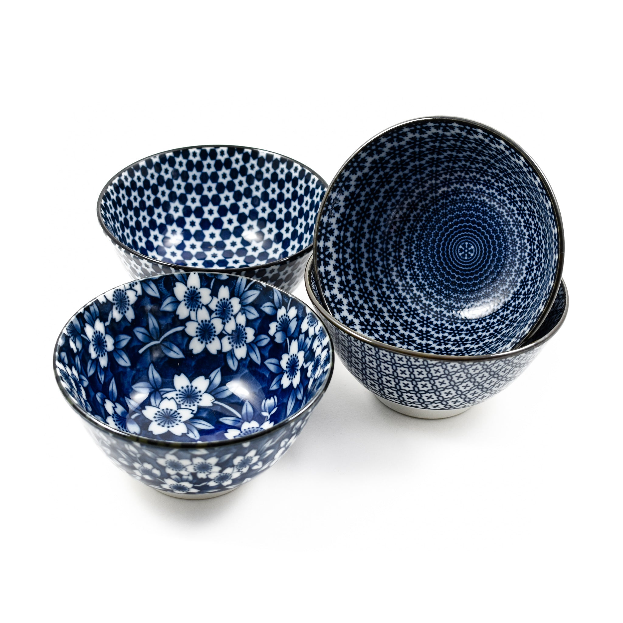 Kiji Stoneware & Ceramics Blue & White Rice Bowl Boxed Gift Set Tableware Japanese Tableware Japanese Food