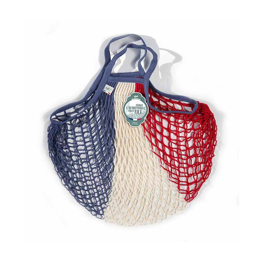 Filt String Bag in Red, White & Blue Cookware Kitchen Clothing French Food