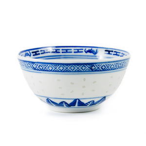 Asian rice pattern dishes