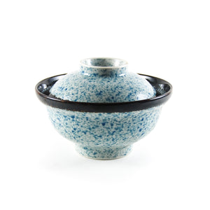 Blue Wave Covered Bowl