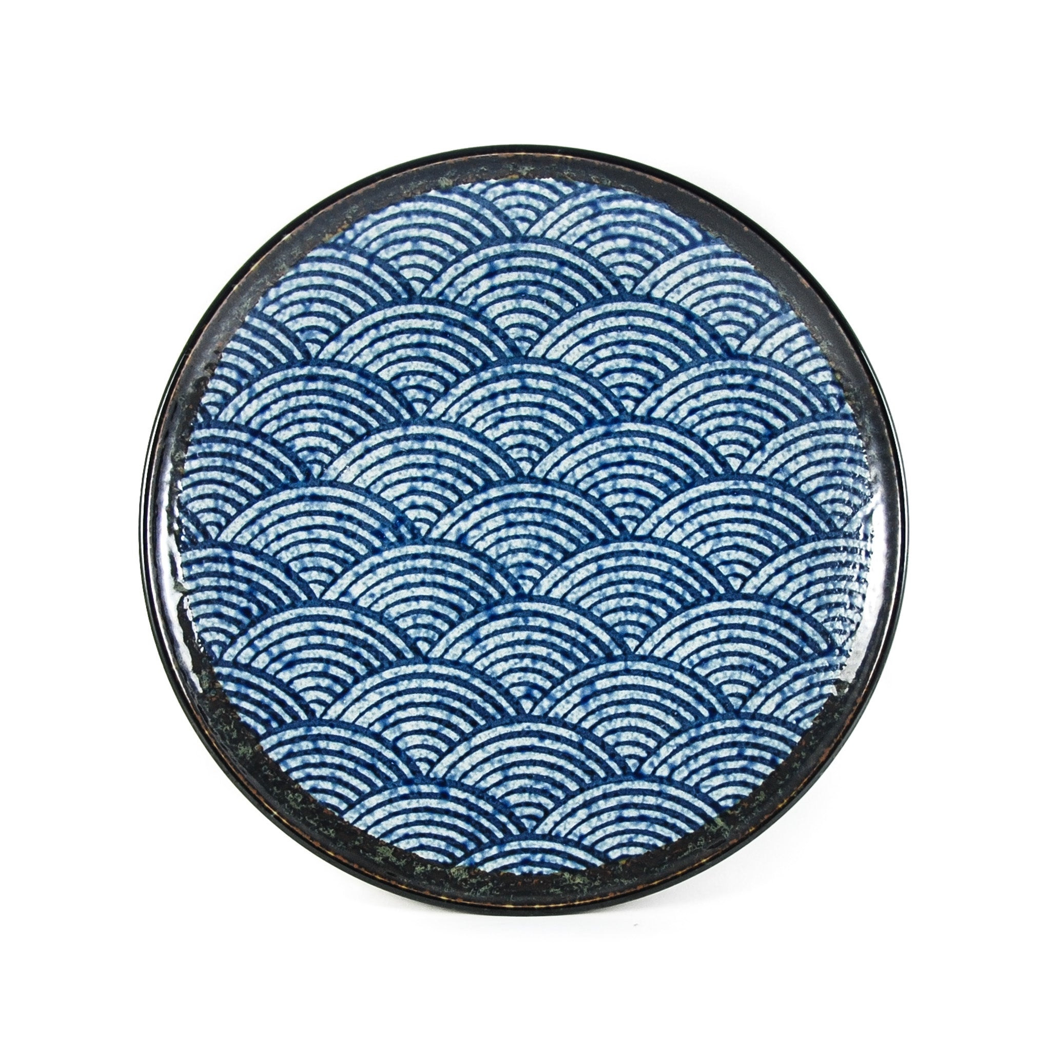 Kiji Stoneware & Ceramics Blue Wave Dinner Plate Tableware Japanese Tableware