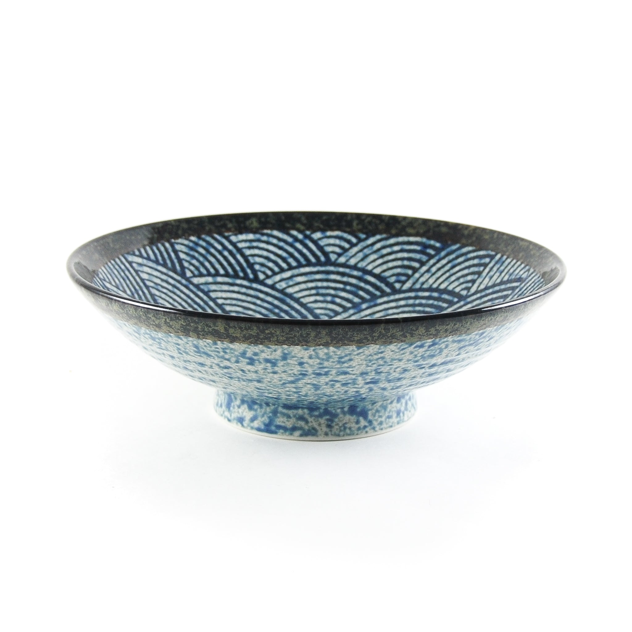 Blue Wave Large Shallow Bowl