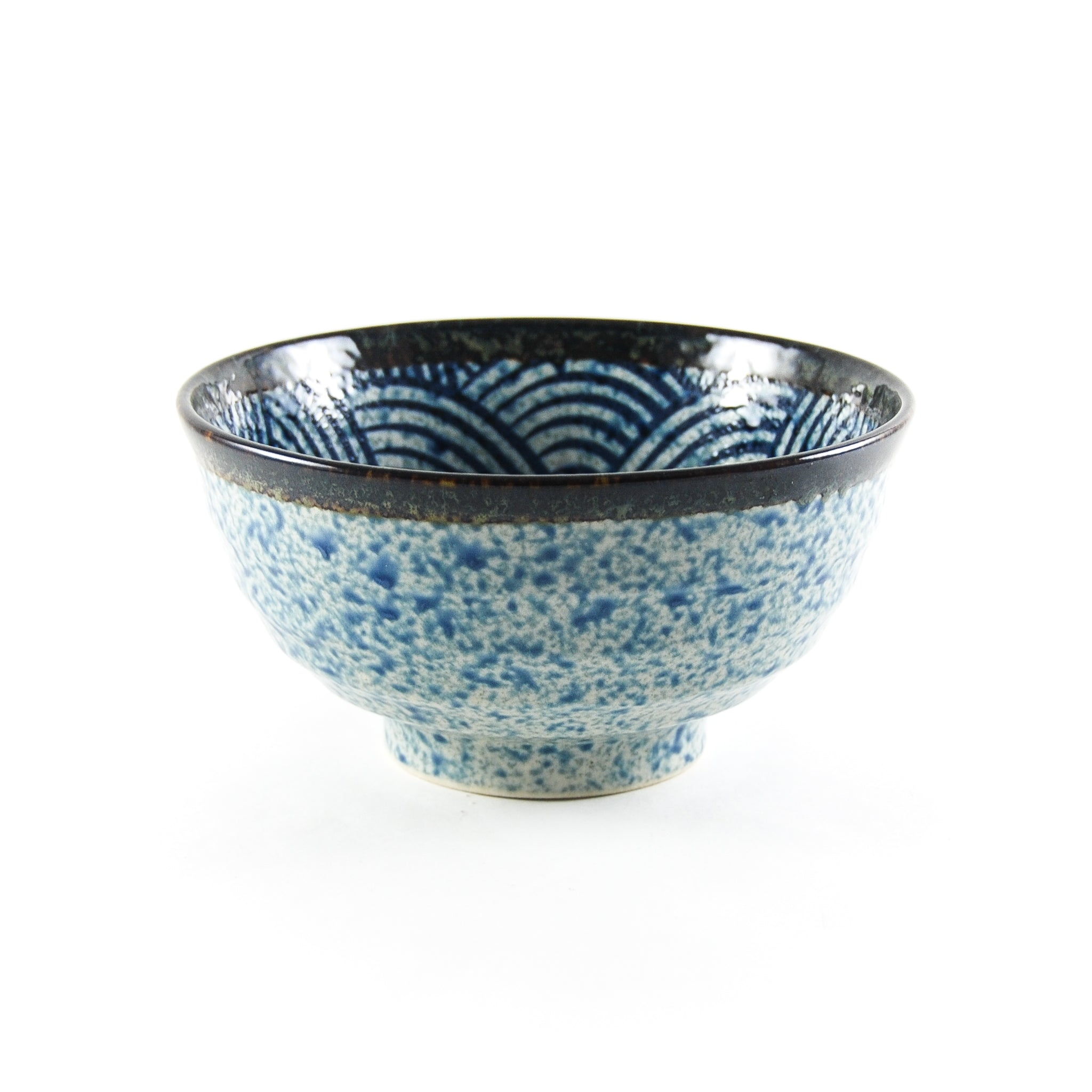 Kiji Stoneware & Ceramics Blue Wave Noodle Bowl Tableware Japanese Tableware