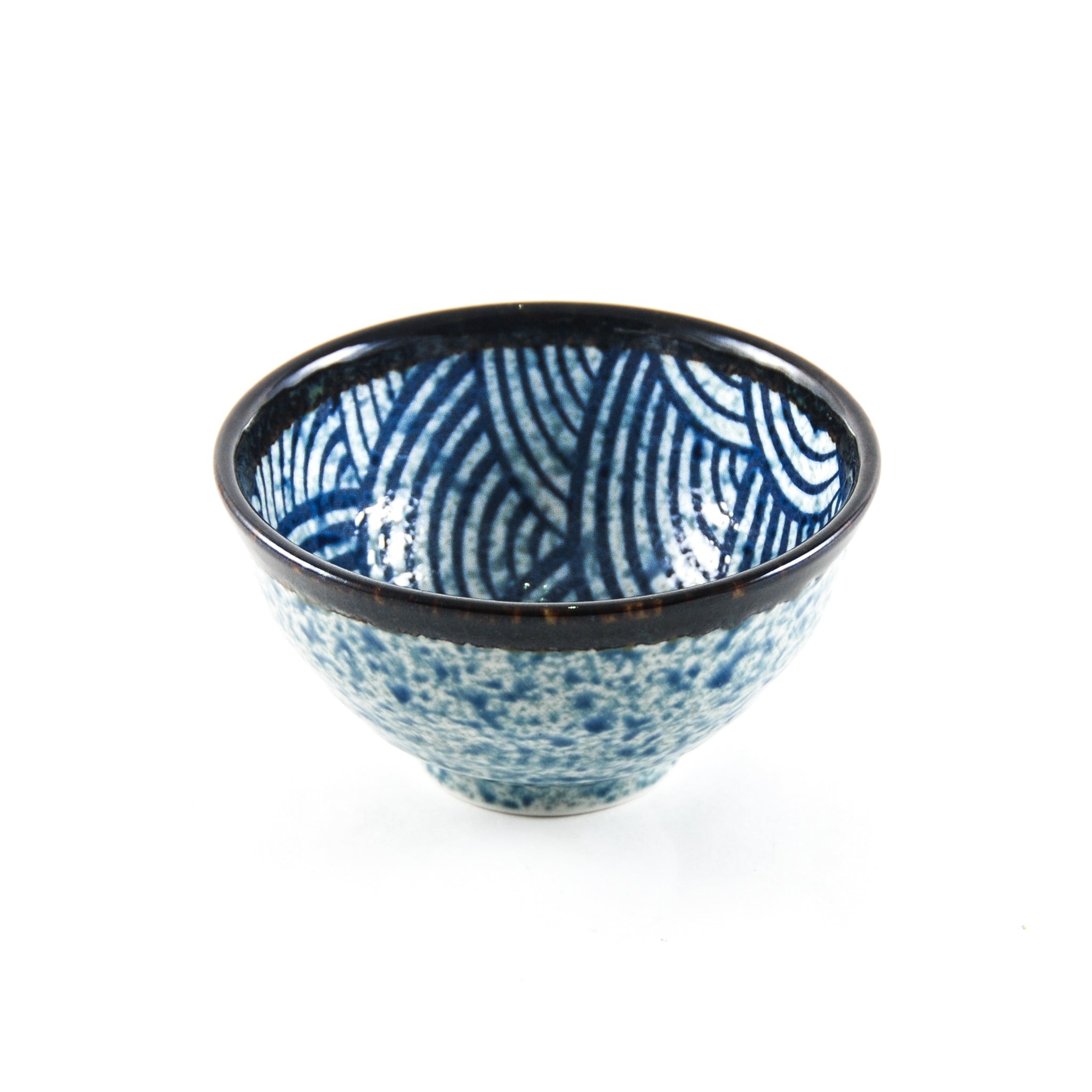 Kiji Stoneware & Ceramics Blue Wave Rice Bowl Tableware Japanese Tableware Japanese Food
