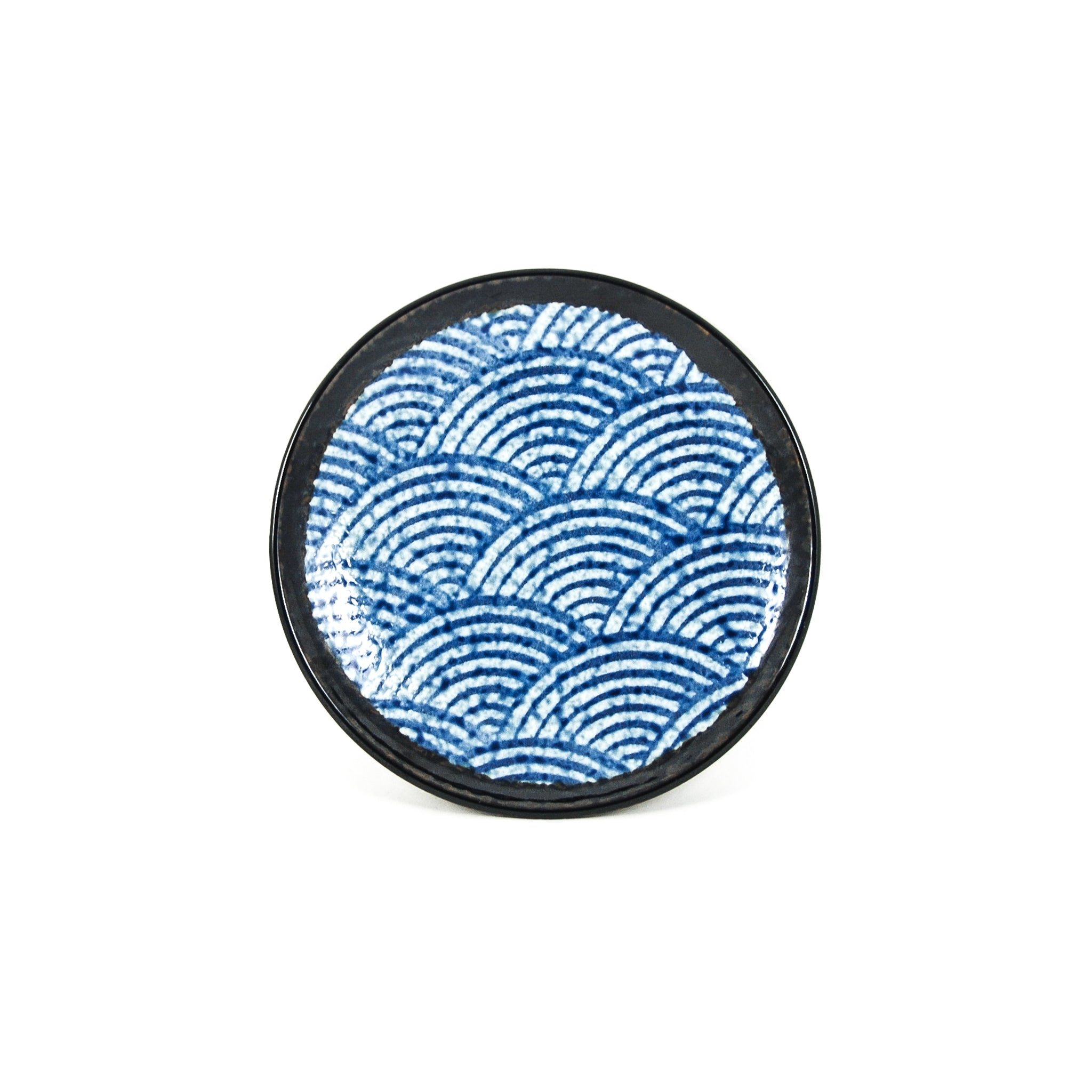 Kiji Stoneware & Ceramics Blue Wave Side Plate Tableware Japanese Tableware