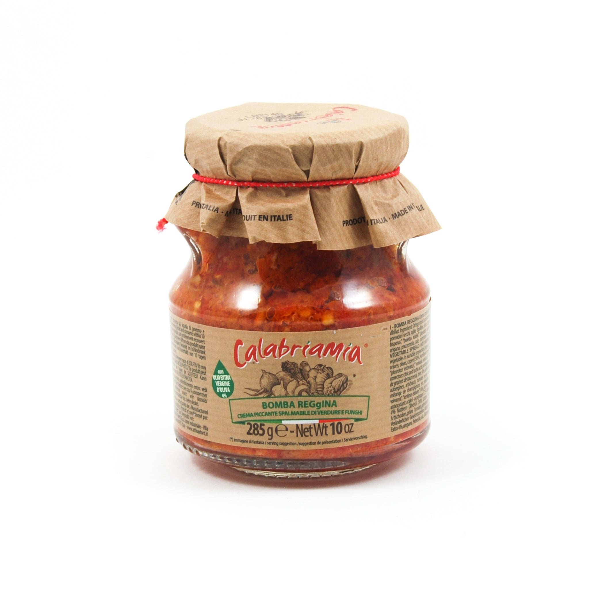 Calabriamia Bomba Calabrese Spicy Calabrian Vegetable Spread 314g Ingredients Jam Honey & Preserves Italian Food