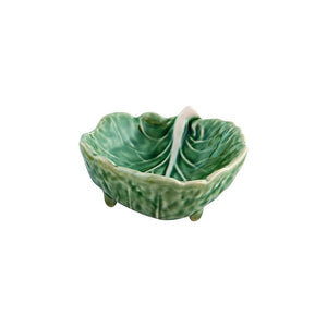 Curved Cabbage Leaf Bowl 9cm