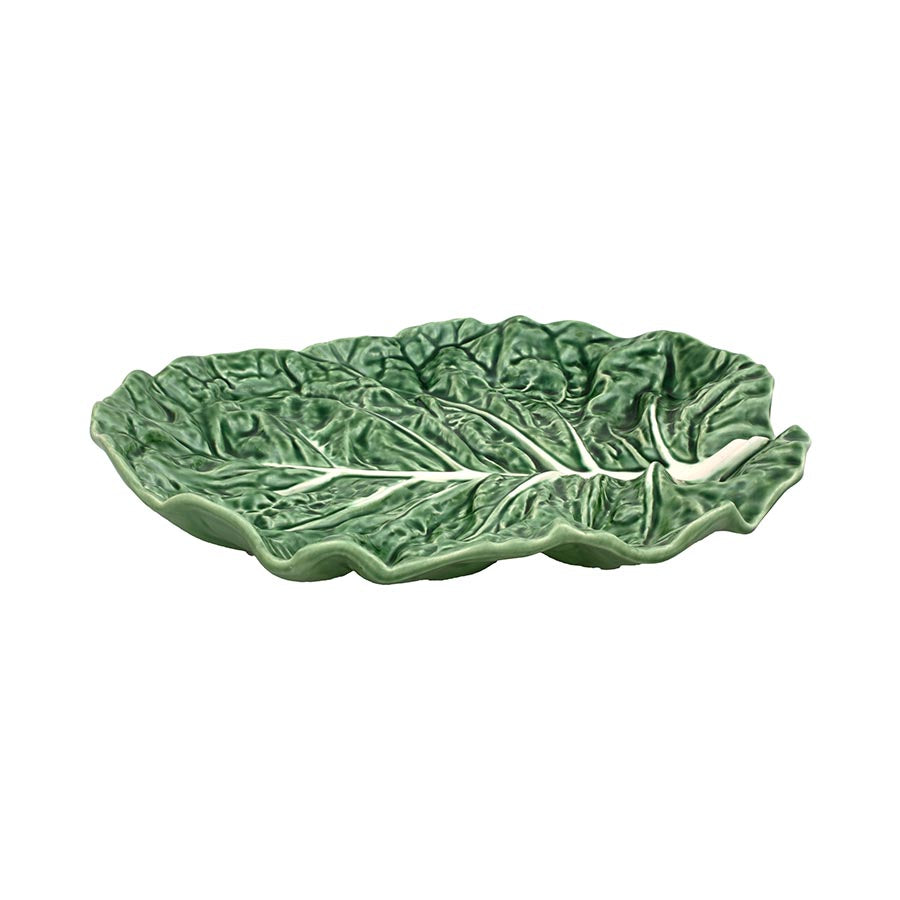 Bordallo Pinheiro Cabbage Leaf Oval Platter Tableware