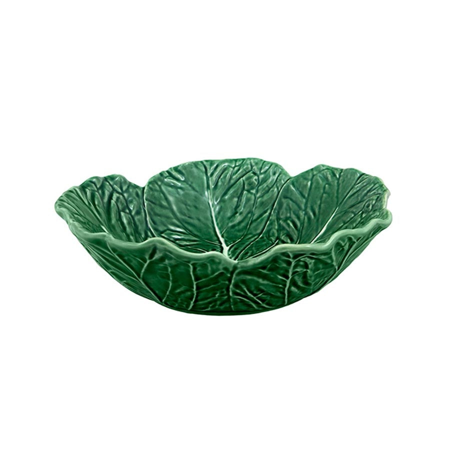 Bordallo Pinheiro Cabbage Leaf Salad Bowl 29cm Tableware