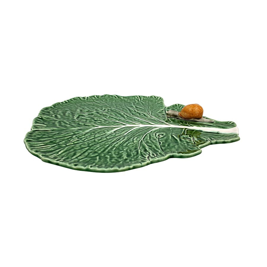 Bordallo Pinheiro Cabbage Leaf With Snail Tableware