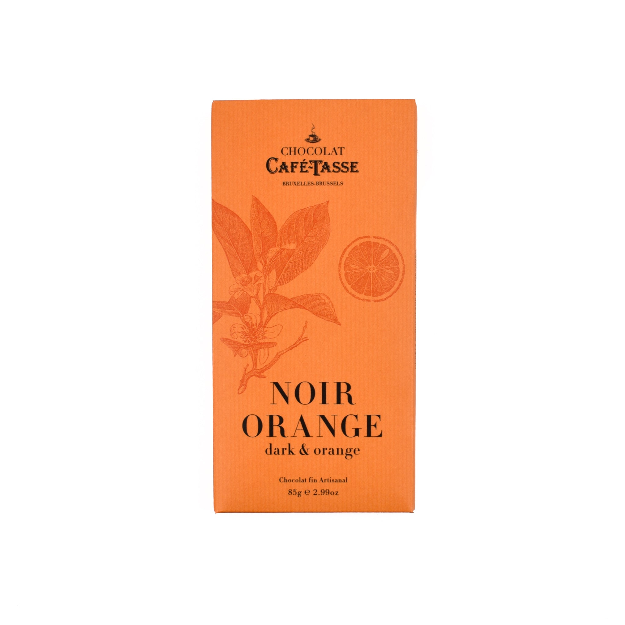 Cafe Tasse Dark Chocolate Orange Bar 85g Ingredients Chocolate Bars & Confectionery French Food