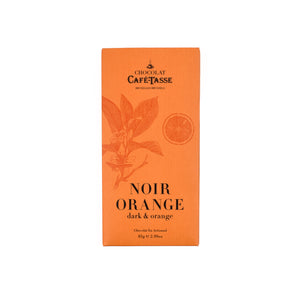 Cafe Tasse Dark Chocolate Orange Bar