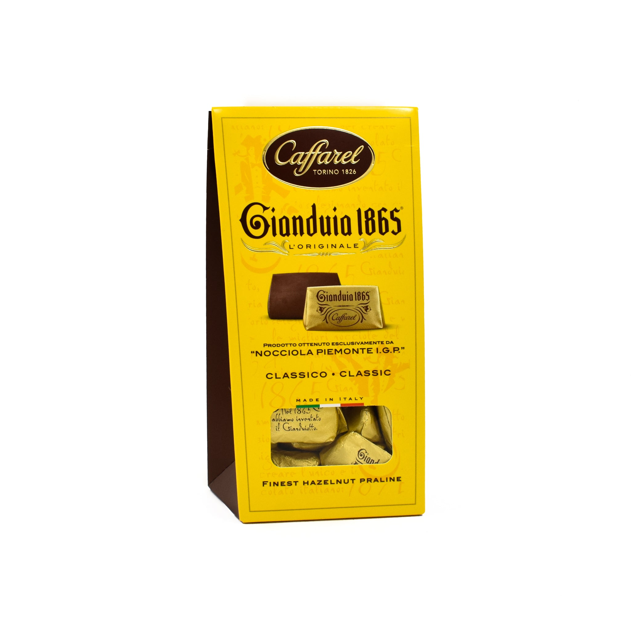 Caffarel Gianduia Window Ballotin 150g Ingredients Chocolate Bars & Confectionery Italian Food