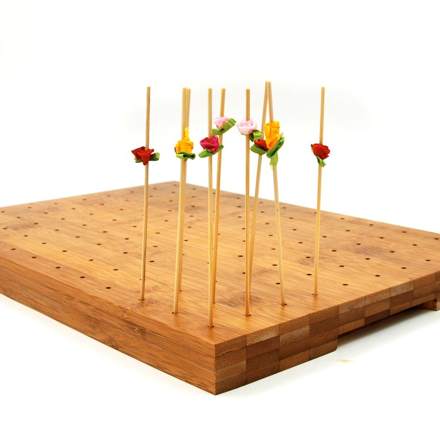 First Pack Wooden Canape Skewer Display For 120 Canapes Tableware Canape Supplies