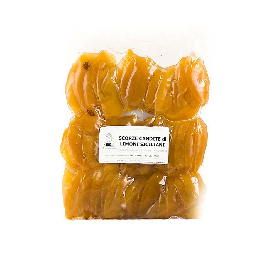 Pariani Sicilian Candied Lemon Peel 1kg Ingredients Baking Ingredients Dried & Preserved Fruit Italian Food