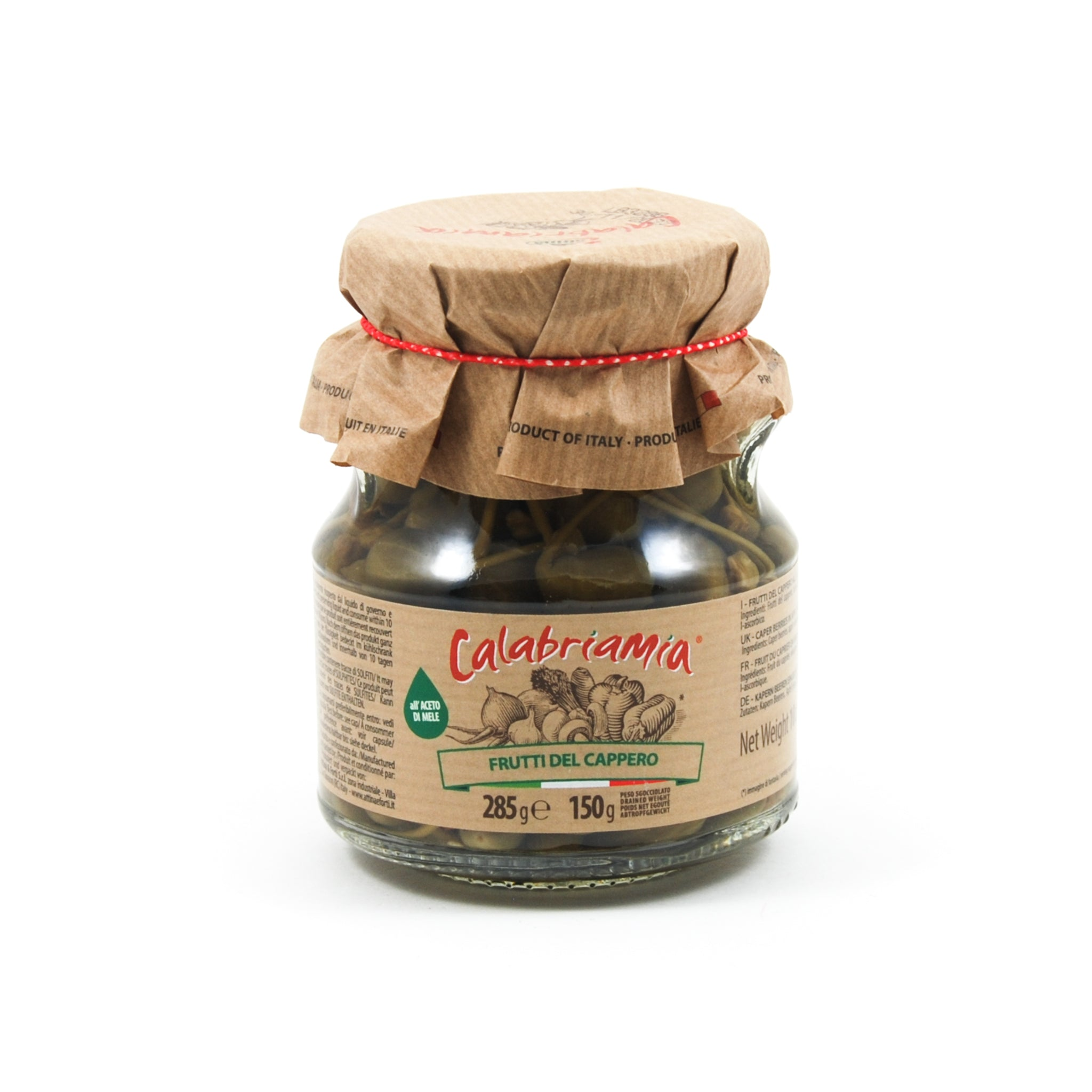Calabriamia Caper Berries in Vinegar 314ml Ingredients Pickled & Preserved Vegetables Italian Food