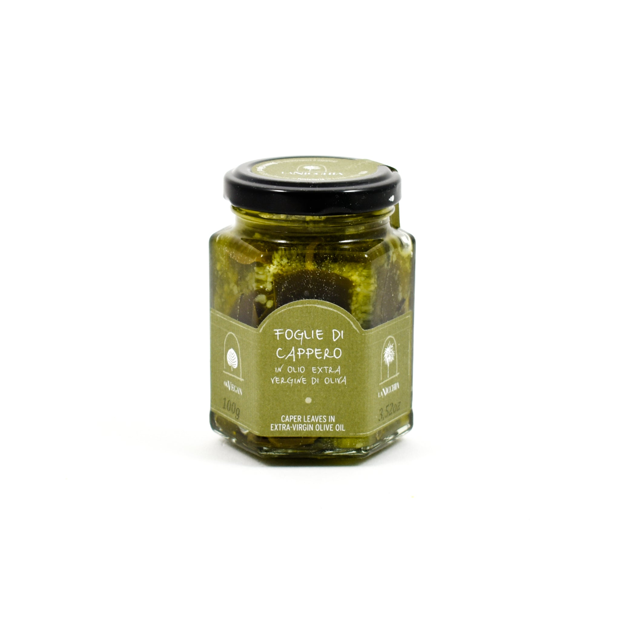 La Nicchia Caper Leaves 100g Ingredients Pickled & Preserved Vegetables Italian Food