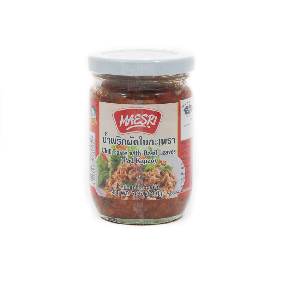 Mae Sri Chilli Paste With Holy Basil 200g Ingredients Sauces & Condiments Asian Sauces & Condiments Southeast Asian Food