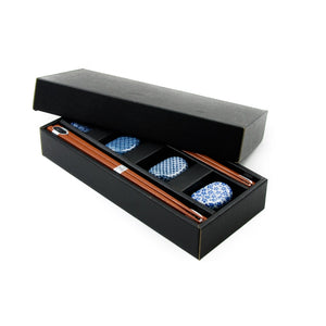 Japanese Chopstick & Rest Set - Blue