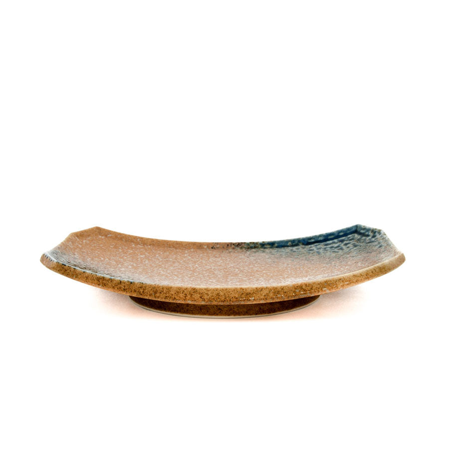 Kiji Stoneware & Ceramics Chouseki Oblong Plate 21.5 x 14cm Tableware Japanese Tableware Japanese Food