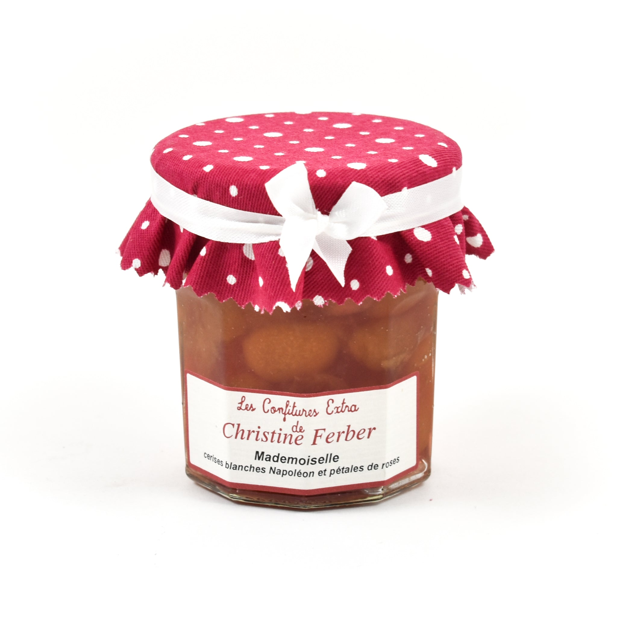 "Christine Ferber""Mademoiselle"" White Cherry & Rose Petal Jam 220g Ingredients Jam Honey & Preserves French Food"