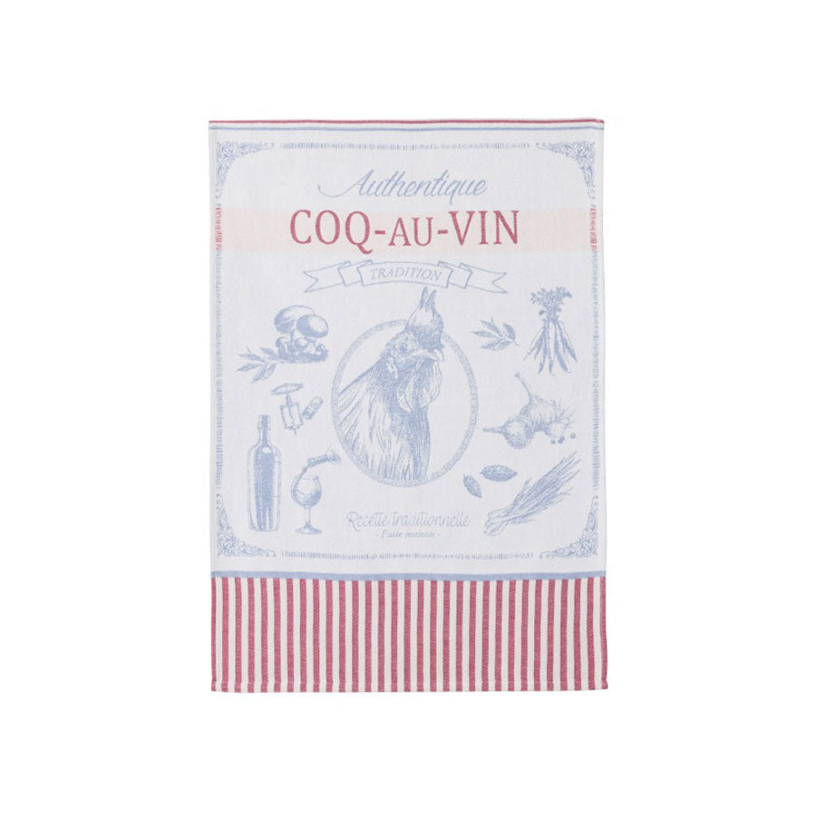 Coucke French Tea Towel - Coq au Vin Cookware Kitchen Clothing French Food