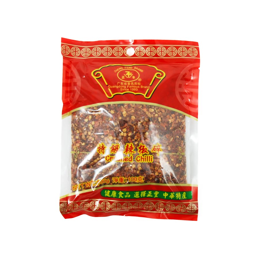 ZF Crushed Chilli Flakes 100g Ingredients Herbs & Spices Dried Chillies Chinese Food