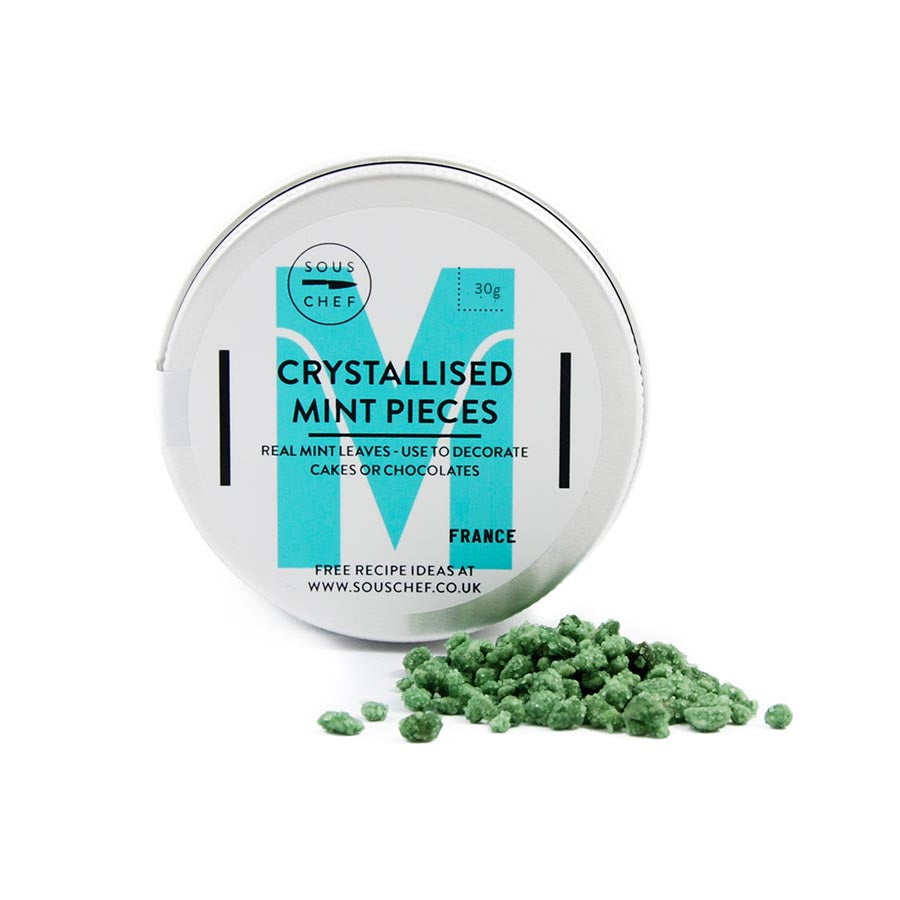Crystallised Mint Leaf Pieces 30g