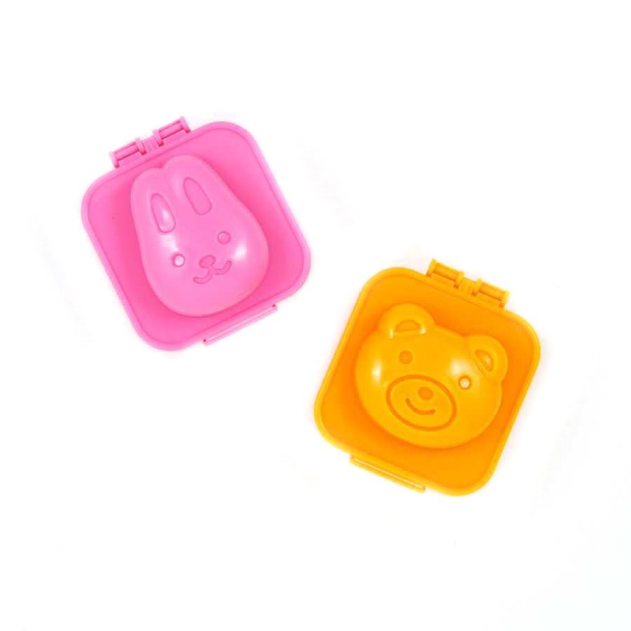 Hakoya Boiled Egg Mould - Bear & Bunny Tableware Japanese Tableware Japanese Food
