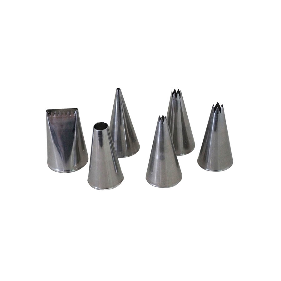 De Buyer 6 Stainess Steel Piping Nozzles