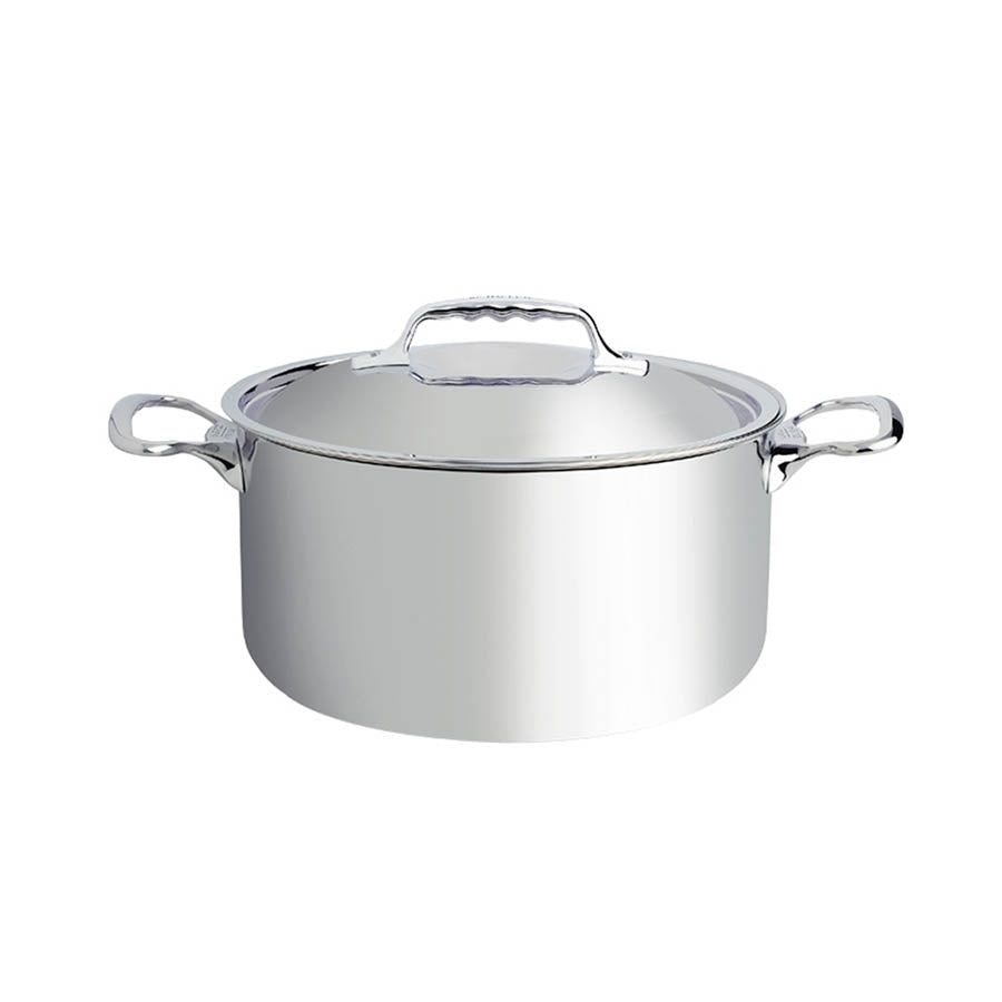 De Buyer Affinity Stainless Steel Casserole Pan with Lid