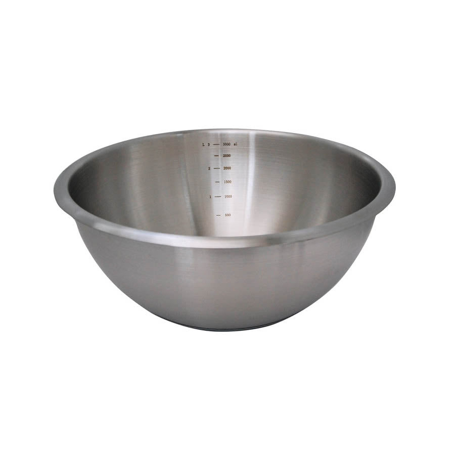 De Buyer Hemisphere Mixing Bowl with Silicone Base 24cm Cookware Bakeware & Roasting French Food