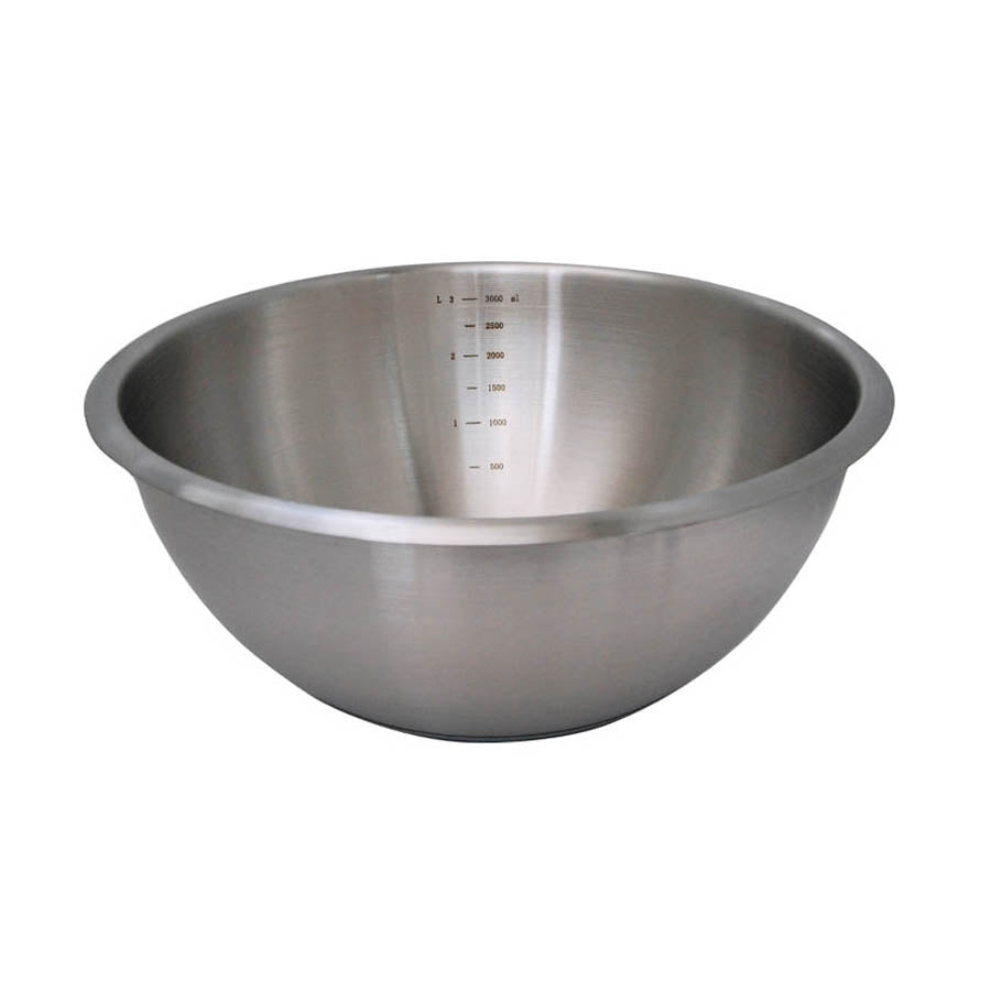 De Buyer Hemisphere Mixing Bowl with Silicone Base 30cm Cookware Bakeware & Roasting French Food