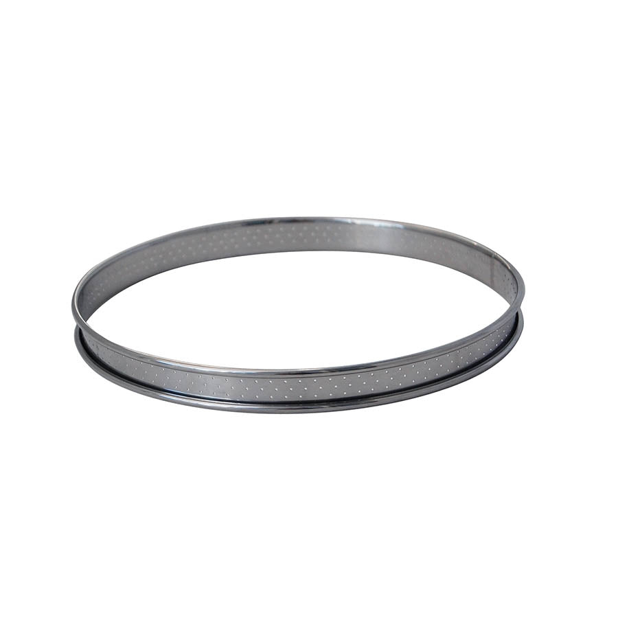 De Buyer Perforated Stainless Steel Tart Ring