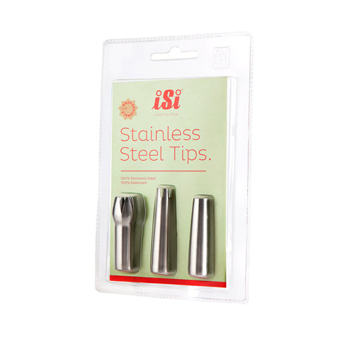 iSi Stainless Steel Decorator Tips Cookware Sous Vide Cooking