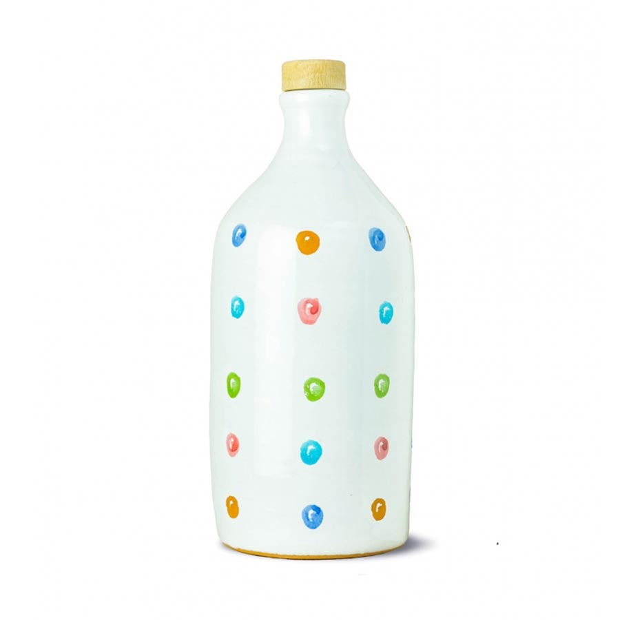Frantoio Muraglia Medium Fruity Extra Virgin Olive Oil in Polka Dot Terracotta Bottle 500ml Ingredients Oils & Vinegars Italian Food