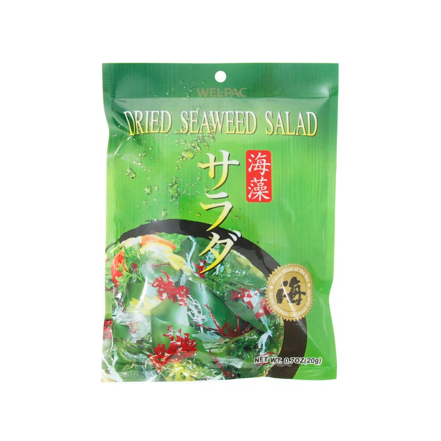 Welpac Seaweed Salad - Japanese Kaiso Salad 20g Ingredients Seaweed Squid Ink Fish Japanese Food
