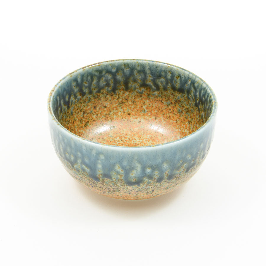 Kiji Stoneware & Ceramics Chouseki Blue Gold Bowl 13cm dia x 7cm Tableware Japanese Tableware Japanese Food