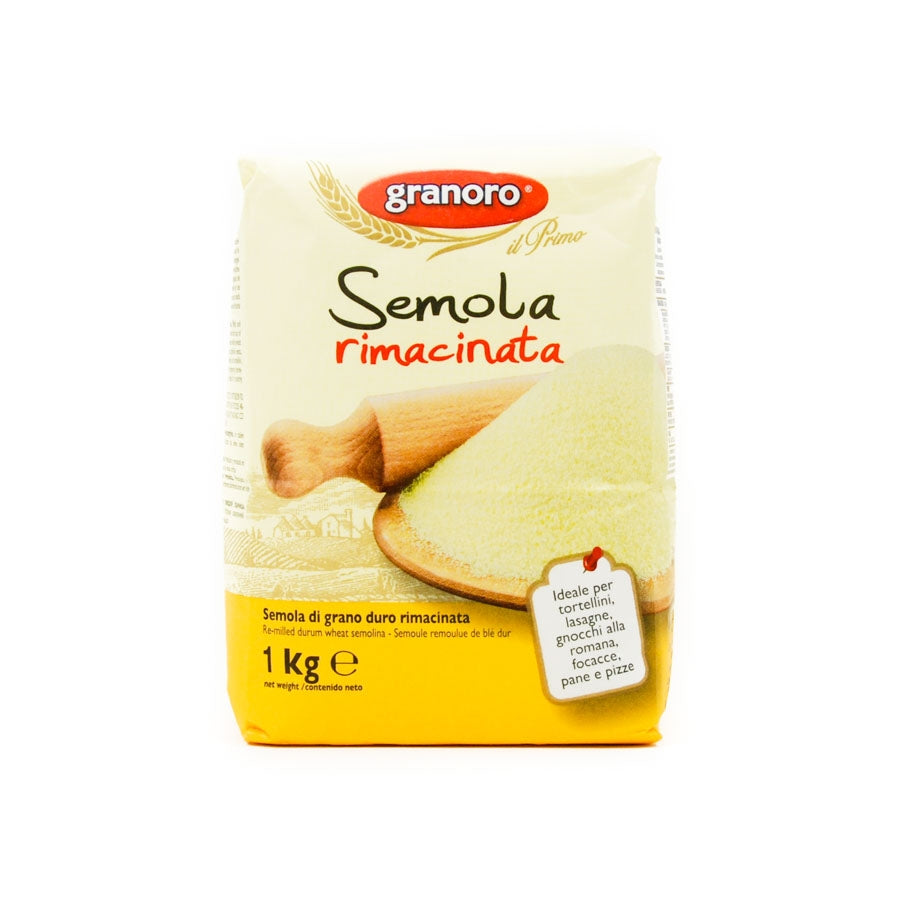 Granoro Durum Semolina 'Rimancinata' - Fine Ground 1000g Ingredients Flour Grains & Seeds Italian Food