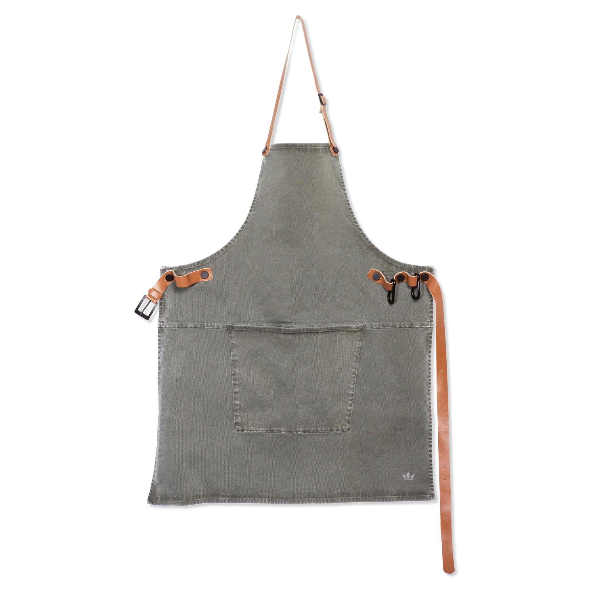 Dutchdeluxes Canvas BBQ Apron in Grey-Green Cookware Kitchen Clothing
