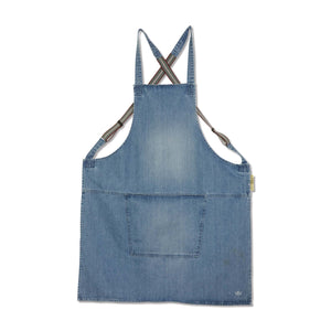 Dutchdeluxes Denim Suspender Apron in Blue