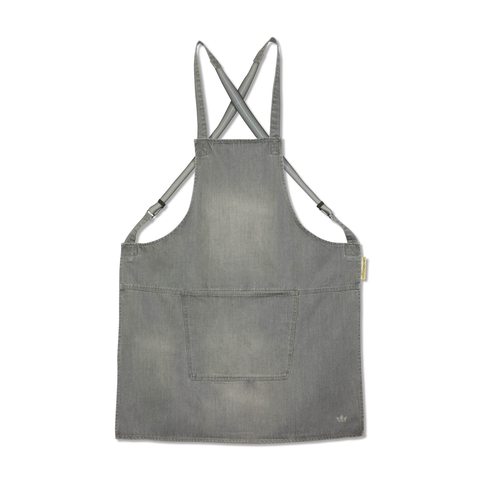 Dutchdeluxes Denim Suspender Apron in Grey Cookware Kitchen Clothing