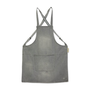 Dutchdeluxes Denim Suspender Apron in Grey