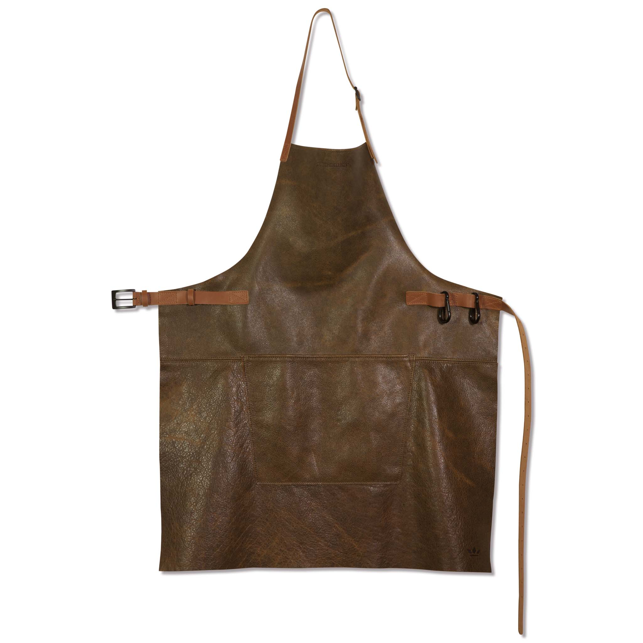 Dutchdeluxes Leather BBQ Apron in Vintage Brown Cookware Kitchen Clothing