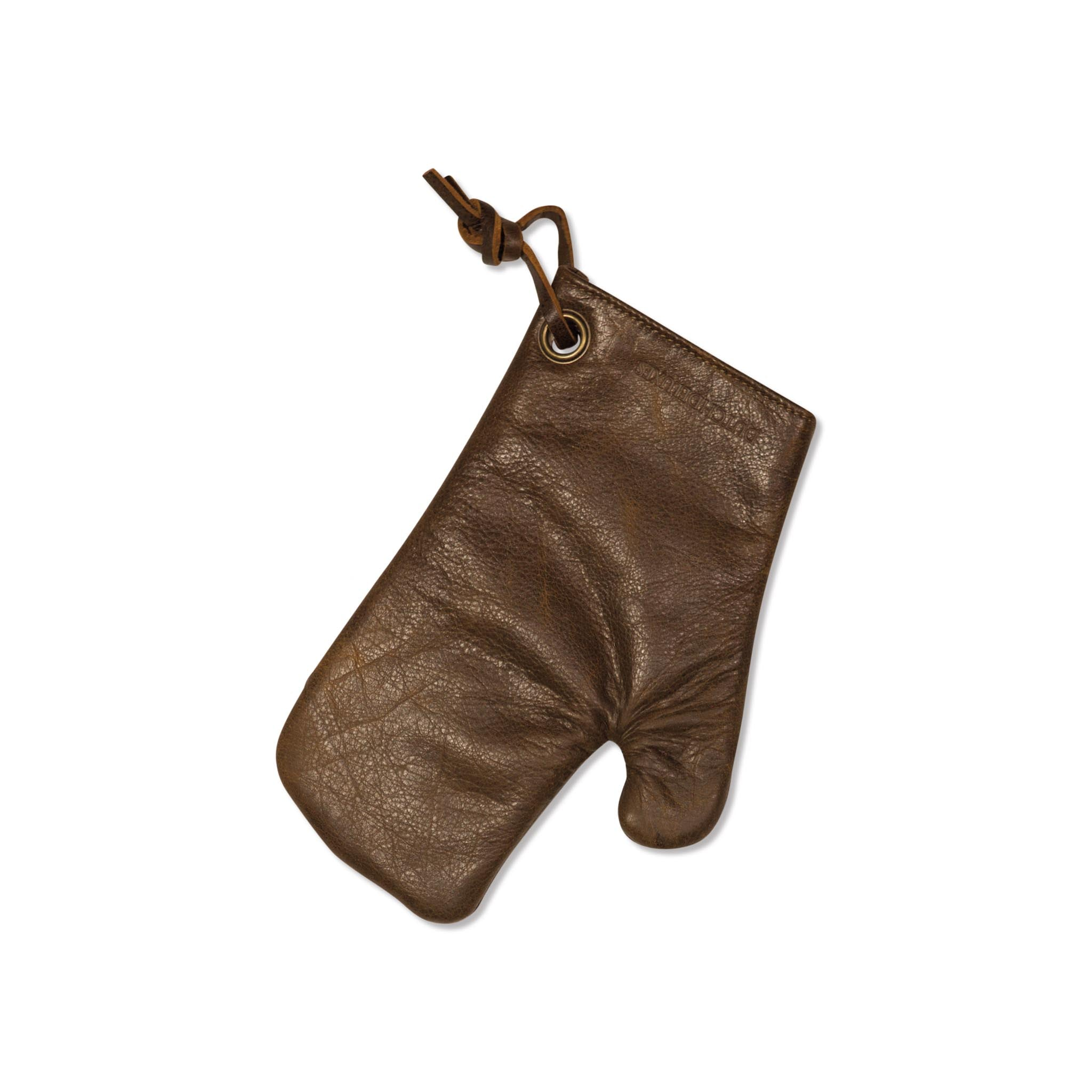Dutchdeluxes Leather Oven Glove in Vintage Brown Cookware Kitchen Clothing