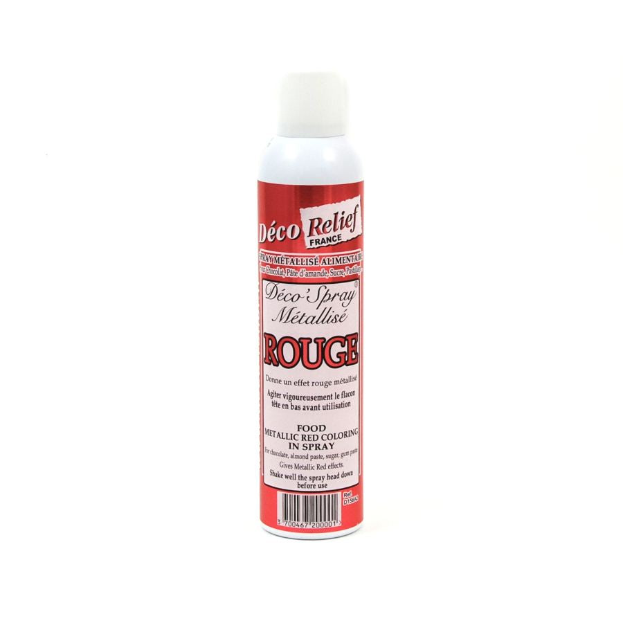 Deco Relief Edible Metallic Red Spray 300ml Ingredients Baking Ingredients Baking Sugar & Decoration French Food