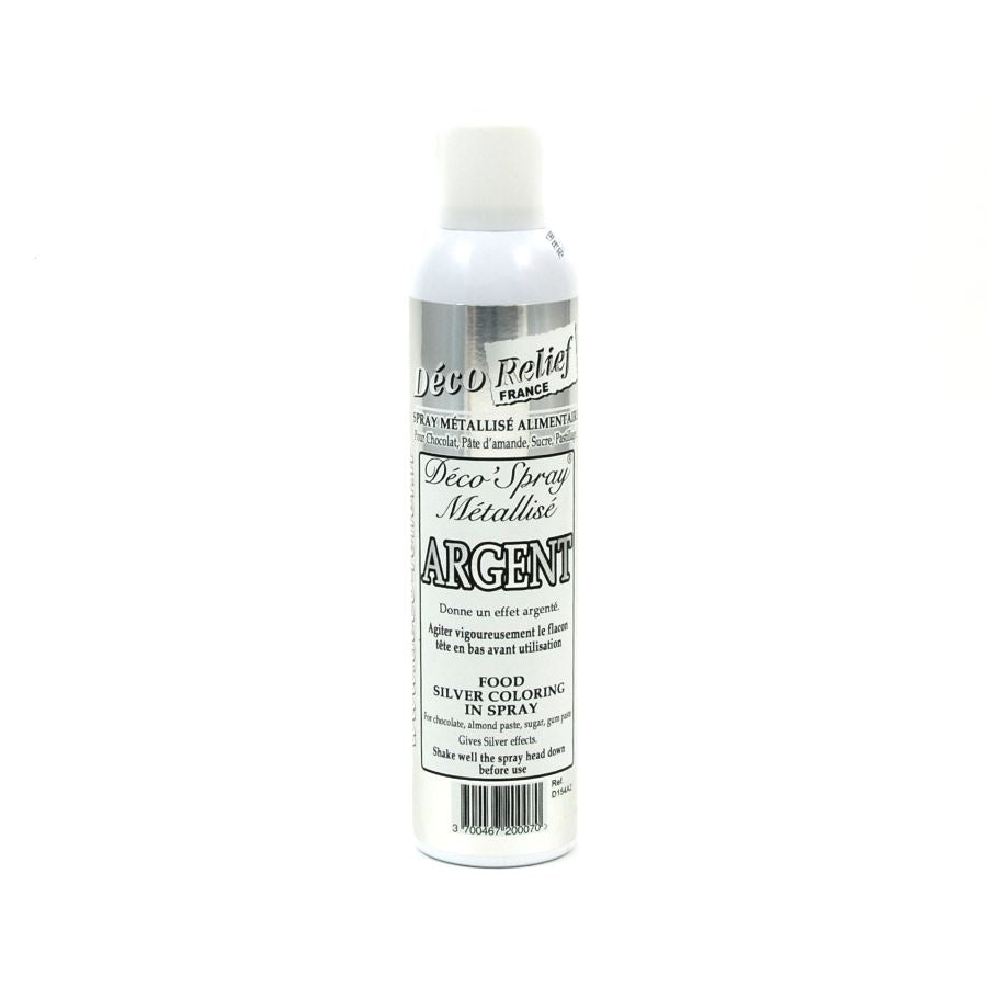 Deco Relief Edible Silver Spray 300ml Ingredients Baking Ingredients Baking Sugar & Decoration French Food