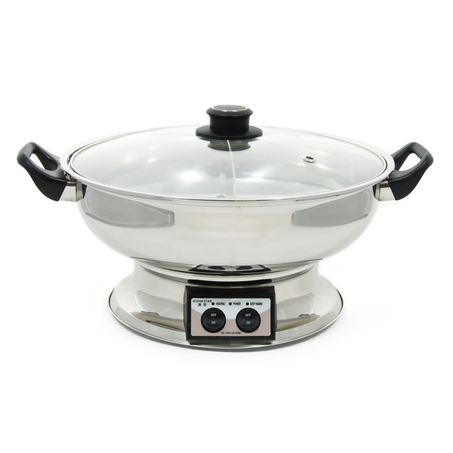 HSK Table Top Chinese Hot Pot 4.5 litres, Serve 6-8 Cookware Pots & Pans Chinese Food